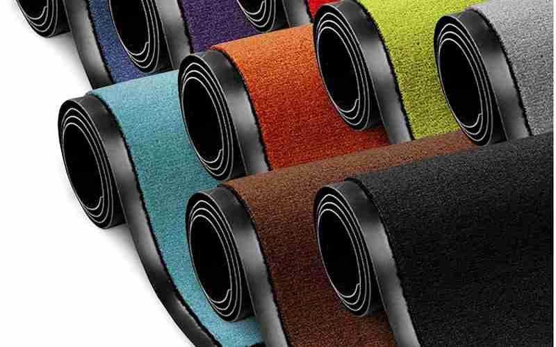 alfombras y felpudos de entrada de vinilo